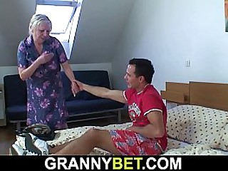 Busty granny gets..