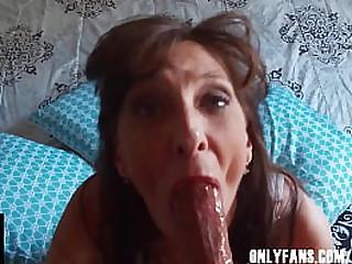Sexy Dark Haired Granny..