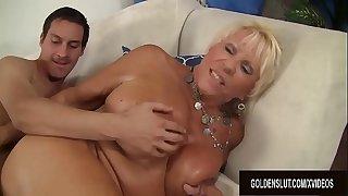 Big tits mature Mandy McGraw..