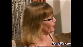 Grandma Gets A Younger Cock..