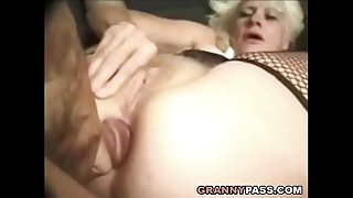 Barbie Face Granny Does Anal..